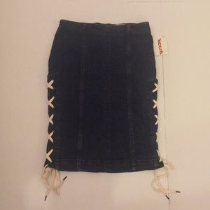 NWT Free People Lace Up Mini Skirt